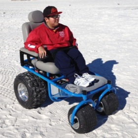 power beach wheelchair
