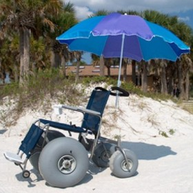 traditional beach wheelchair