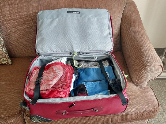 rolling suitcase packing